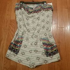 Cute Little Aztec Romper!!!Brand New!!! Size Large See pics for details on this cutie.....JUNIOR SIZING L8ster  Shorts