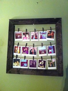 Vintage Photo Frame by GrayScratch on Etsy, $40.00    She'll make it for you! Clothespins and all!