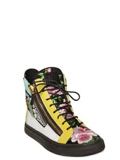 GIUSEPPE ZANOTTI HOMME - EMBELLISHED HIGH TOP SNEAKERS