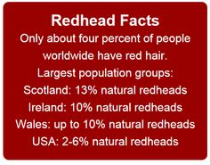 If redheads are so rare how have ended up with SO many in my life? My blood sister, my soul sister, my life partner, id say at least of my VIPs in life are gingers. Redhead Facts, Redhead Quotes, Natural Redhead, Beautiful Redhead, Natural Hair, Natural Beauty, Beautiful Women, Red Hair Don't Care, Ginger Girls