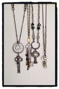 Vintage Key necklaces by LjBlock Designs
