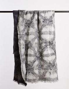 Leni Throw Rug - Linen/Merino Wool  - Abode Living