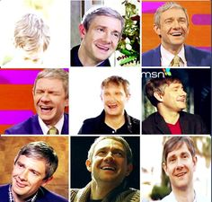 The many silly and adorable faces of Martin Freeman <3