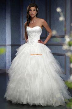 Délka dvorní Bez rukávů Přírodní Luxusní svatební šaty