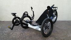 THE THUNDERBOLT. This trike is the model of trike safety. It has lights, reflectors, mirrors and an electrical assist. Great trike to have for getting around. Recumbent Bicycle, Bike, Custom Trikes, Fingers Design, Sidecar, Mirrors, Safety, Lights, Utah