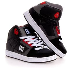 DC Shoes Rebound Leather Skate Boy/Girls Kids Shoes ❤ liked on Polyvore featuring baby, shoes, kids and kids shoes