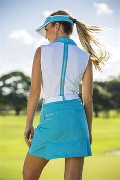 Daily Sports Alexis Sleeveless Golf Polo - White/Baltic