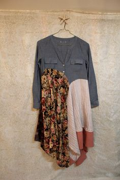 Boho Shirt, Shabby Chic Romantic, Bohemian Junk Gypsy Style, Mori Girl, Lagenlook