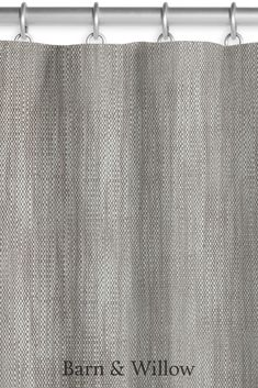 Canvas drapery featuring an elegant 3 Pinch Pleat style. Made of a premium Linen-Cotton blend, these drapes are custom made and hand-stitched by expert hands. Window Coverings, Window Treatments, Custom Drapes, Drapery Rods, Hand Stitching, Swatch, Barn, Hands, Fabric