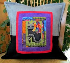 I love the serene gazes of Laurel Burch Handmade Pillow Covers, Decorative Pillow Covers, Quilting Designs, Quilt Design, Blue Eggs, Laurel Burch, Quilted Pillow, Colorful Birds, Pillow Inserts