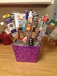 Gift card and booze basket i made it for my husband products adult gift basket negle Image collections