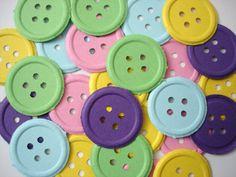 100 Colorful Button punch die cut scrapbooking by BelowBlink, $3.00