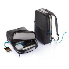 MFi Hybrid 6000mAh power laptop rugtas, zwart