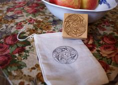Custom Stamped Muslin Keepsake/Favor Pouch  Any Stamp by Dunnyveg, $1.25