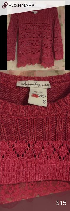 American rag coral knit loose fit sweater Perfect condition. American Rag Sweaters Crew & Scoop Necks