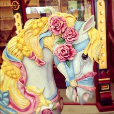 So beautiful! Just love the soft pastel colors of this carousel horse. Thanks for sharing!