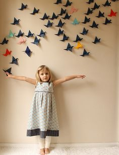 Taking Flight by madebyrae, via Flickr Lovely Sewing patterns. Love the origami birds too!