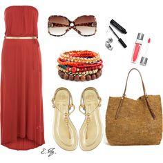 Hot Red Maxi Dress