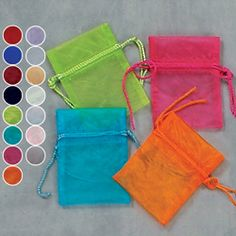 3x4+Sheer+Organza+Pouch+(Pack+of+12)