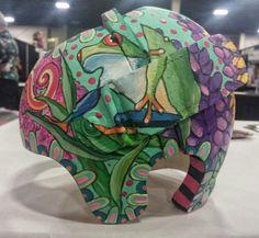 This is a corrective helmet I painted for my Granddaughter. Baby Car Seats, Helmet, Fine Art, Children, Young Children, Boys, Hockey Helmet, Kids, Helmets