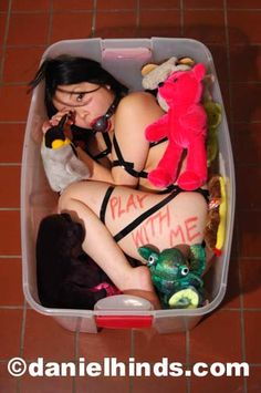 image Bdsm collared cuffed amp cocked squirt session