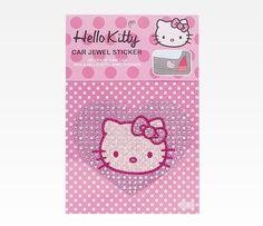 Hello Kitty Jeweled Car Decal: Heart