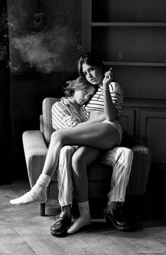Lea Seydoux and Adele Exarchopoulos by Mikael Jansson