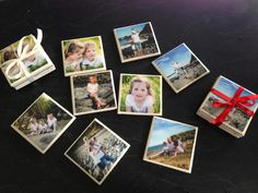 Handmade photo tile coasters ,  Tried mod podge , tried acrylic spray , then found liquid glass OMG , amazing love it , it's equivalent to 60 coats of varnish ,  I love them , think they turned out fab!
