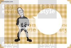 Greeting card with cartoon skinhead – personalize your card with a custom text