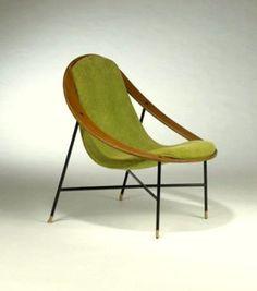 "Ico Parisi - lounge chair, 1955 #Pantone #2014 ""Techno"" feat. ""Dark Citron"""