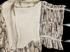 Glasgow, Scotland: Informations About Cotton gown bodice, © CSG CIC Burrell Collection. Glasgow, Scotland: Pin You can easily use my p 18th Century Dress, 18th Century Costume, 18th Century Clothing, 18th Century Fashion, 19th Century, Historical Costume, Historical Clothing, Textiles, Cotton Gowns