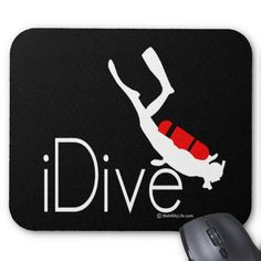 Shop idive mouse pad created by Personalize it with photos & text or purchase as is! Gifts For Scuba Divers, Custom Mouse Pads, Marketing Materials, Cool Designs