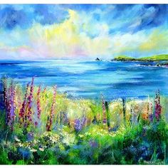 Falling Light, Constantine Bay Print By Sheila Gill.   Greetings Cards   Prints   Gift Wrap