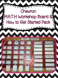 Chevron Math Workshop Board & How to Get Started Pack