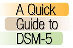 A quick guide to DSM-5 for SLPs. Repinned by  SOS Inc. Resources  http://pinterest.com/sostherapy.
