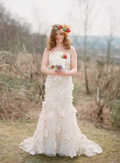 Spring Forest Wedding inspiration shoot by Wedding Sparrow - Cake by Lulubelles  - http://weddingsparrow.co.uk