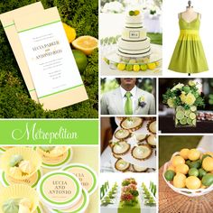 Wedding Inspiration: Metropolitan (Lemon & Lime) | Evermine Blog | www.evermine.com