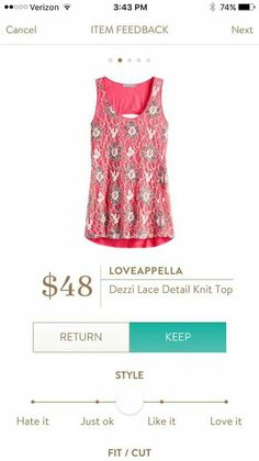 Loveappella Dezzi Lace Detail Knit Top