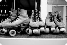 vintage roller rink | We opted for the clunky, old school skates.