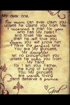 God's precious daughter