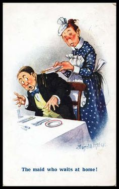 Vintage 1920s signed McGill comic postcard Suffragettes Vote Women's Rights them