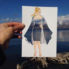 Creative Fashion Designs by Armenian Artist Edgar Art And Illustration, Illustrations, Fashion Design Drawings, Fashion Sketches, Dibujos Cute, Instagram Artist, Illusion Art, Art Plastique, Oeuvre D'art