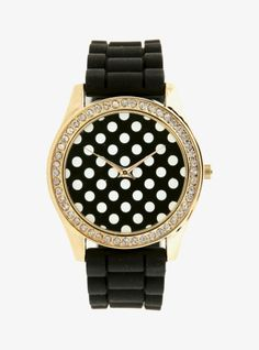 Spotted! Pretty sure this polka dot rhinestone watch is the cutest arm candy ever...