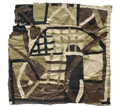 """Francis Davison [UK] (1919 - 1984) ~ """"Torn Paper Collage"""" ca 1983. Paper collage (97 x 98 cm).   #art #collage #abstract"""