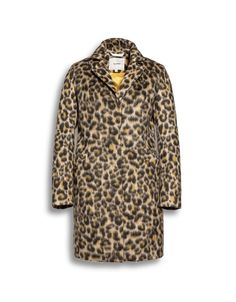 Beaumont Amsterdam Cheetah print faux fur coat  rich in natural fibres from Irish Handcrafts.