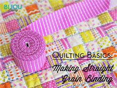 Two binding tutorials in one! Hhow to make your own binding and how to sew it on! Use these great tips on your next project with fabric from the Fabric Shack at http://www.fabricshack.com/cgi-bin/Store/store.cgi Repined: bijou lovely: Quilting Basics: Binding Series