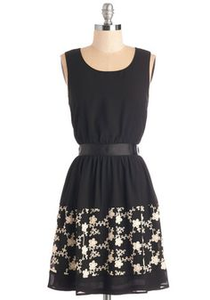Splendid Saturday Dress. Celebrate the weekends arrival with an all-day date in this cute black dress! #black #modcloth