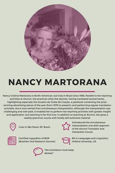 Greatest Women in Translation interview with Nancy Cristina Martorana