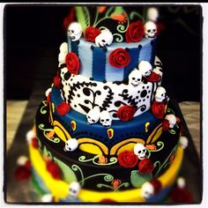 Day Of The Dead Wedding Cake