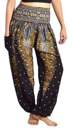 Black Peacock Pants – Asha Pants